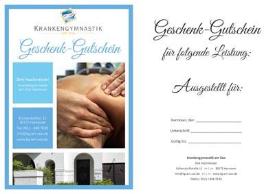 Geschenk Gutschein Physiotherapie Hannover